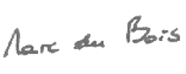 Marc du Bois signature